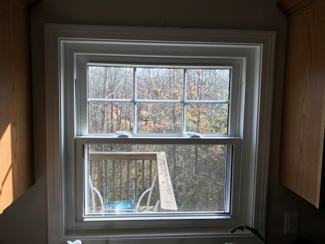 Interior View Of Newly Installed Alside Mezzo Double Hung Windows