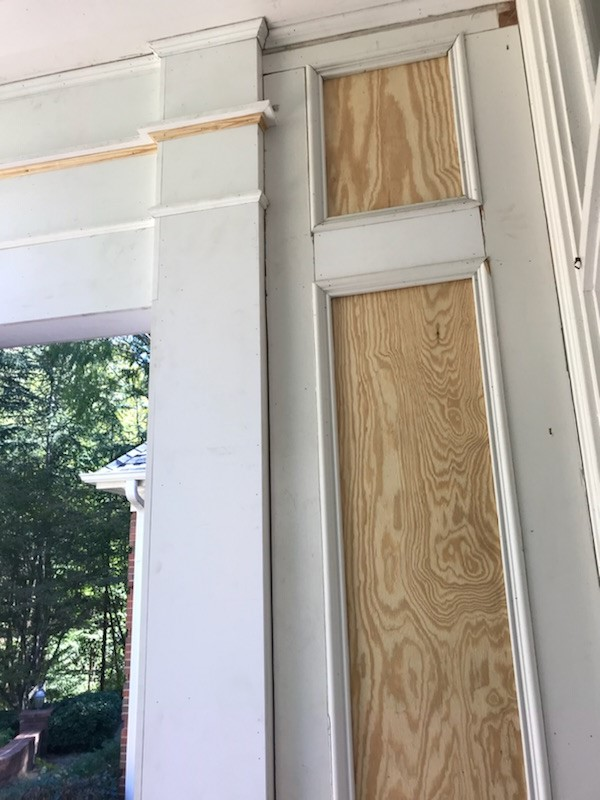 Prep And Wood Replacement Restoration Phase Exterior Painting Project Sandy Springs Ga 30350