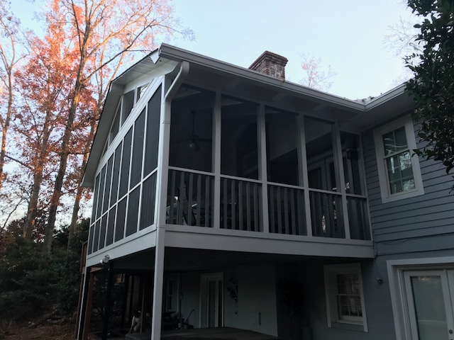 New Porch Screens Installation And Painting Project