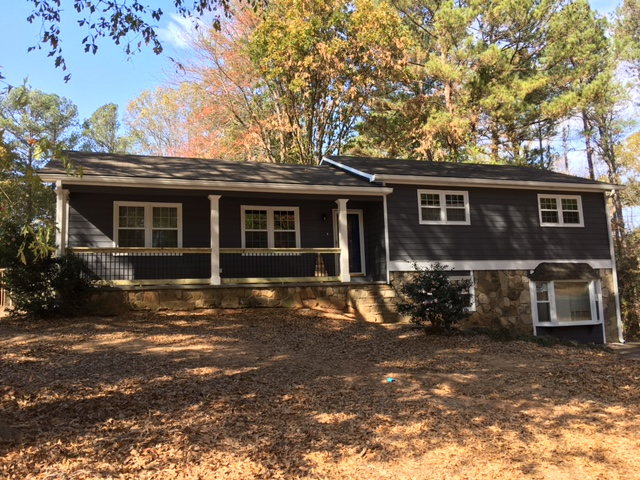 New Hardieplank Siding Painting Gutters And Gutter Guard Project In Woodstock Ga 30189